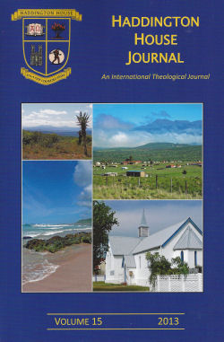Haddington House Journal 2013 Cover