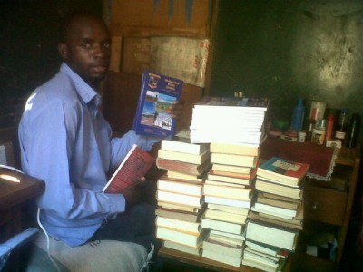 Books received at Bible school in Zambia